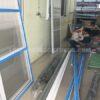 Cửa lưới cố định màu trắng sứ