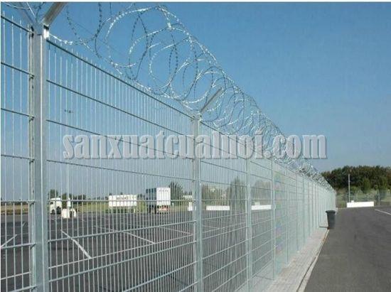 Ứng dụng bảo vệ của hàng rào kẽm gai thép Việt Thống